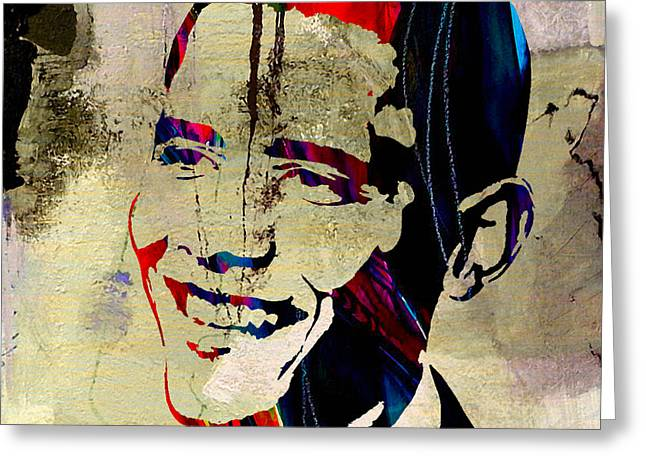 Obama President Greeting Cards - Barack Obama Greeting Card by Marvin Blaine