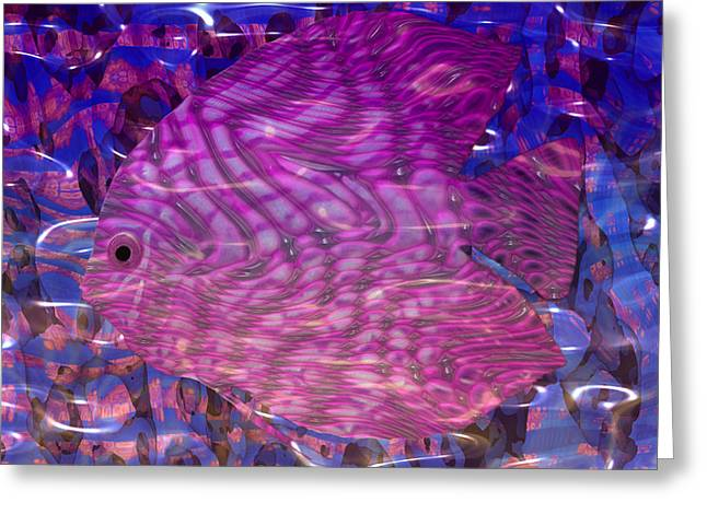 Reality Mixed Media Greeting Cards - Beneath The Waves Series Greeting Card by Jack Zulli