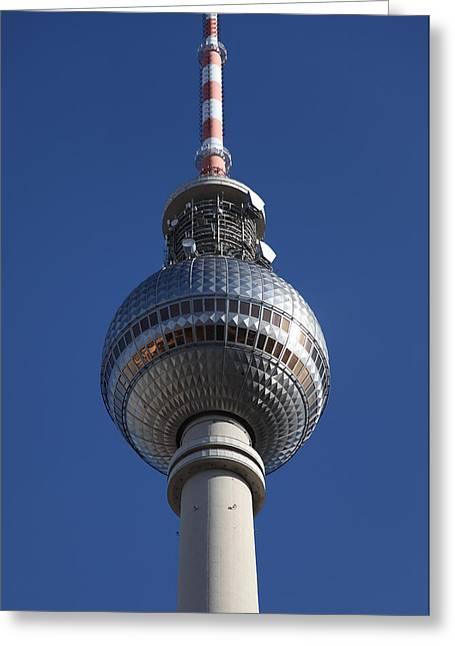 Deutschland Greeting Cards - Berlin TV Tower Greeting Card by Falko Follert