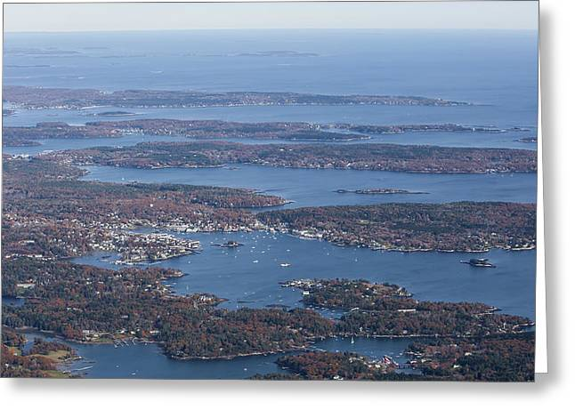 New England Village Greeting Cards - Boothbay Harbor, Maine Greeting Card by Dave Cleaveland