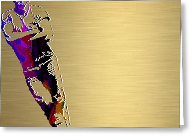 Concert Greeting Cards - Bruce Springsteen Gold Series Greeting Card by Marvin Blaine