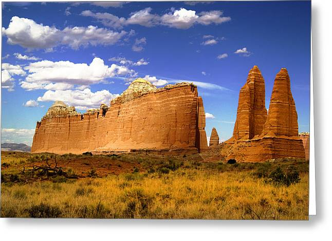 Capitol Reef National Park. Catherdal Valley Greeting Card by Mark Smith