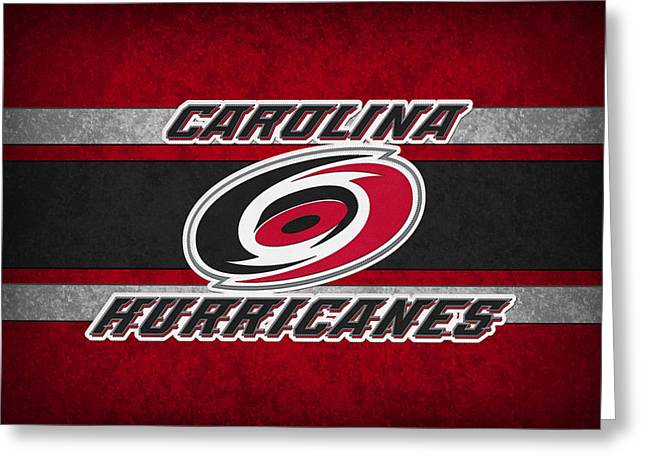 Skates Greeting Cards - Carolina Hurricanes Greeting Card by Joe Hamilton