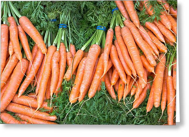 Picking Greeting Cards - Carrots Greeting Card by Tom Gowanlock
