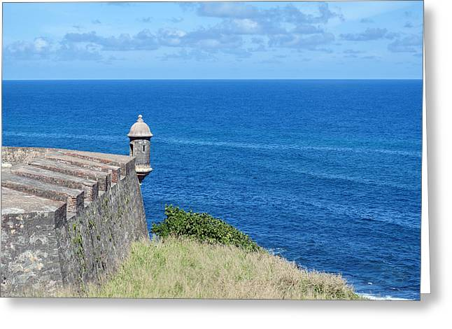 Puerto Rico Greeting Cards - Castillo de San Cristobal. Greeting Card by Fernando Barozza