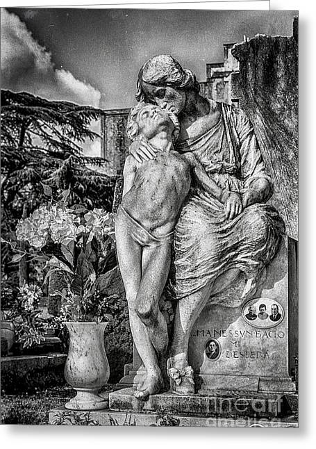 Despair Greeting Cards - Cemetery of Mantova Greeting Card by Traven Milovich