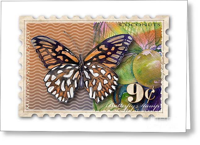 Cent Greeting Cards - 9 Cent Butterfly Stamp Greeting Card by Amy Kirkpatrick