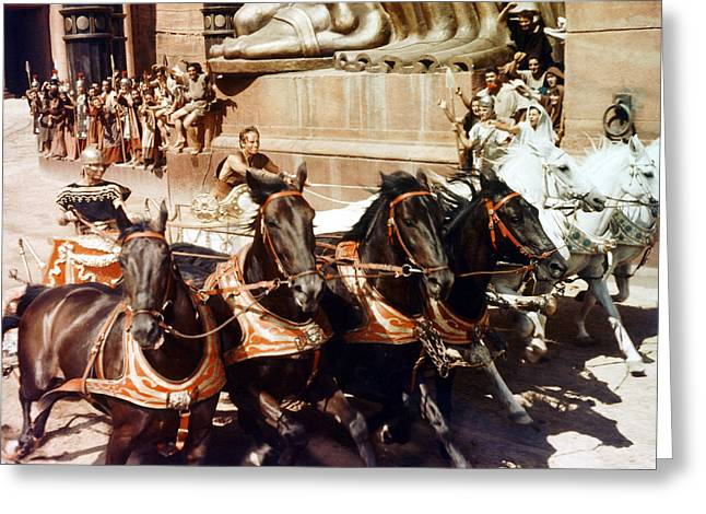 1950 Movies Greeting Cards - Charlton Heston in Ben-Hur  Greeting Card by Silver Screen
