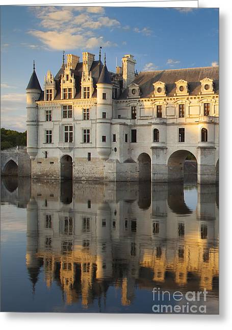 Recently Sold -  - Chateau Greeting Cards - Chateau Chenonceau Greeting Card by Brian Jannsen