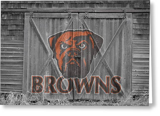 Cleveland Sports Greeting Cards - Cleveland Browns Greeting Card by Joe Hamilton