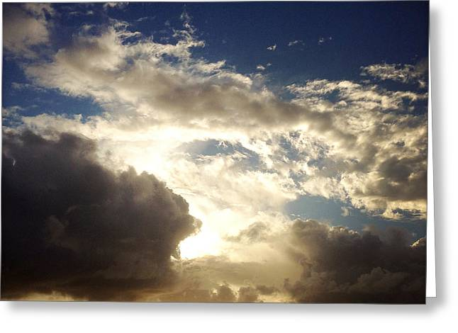 Summer Storm Greeting Cards - Clouds Greeting Card by Les Cunliffe