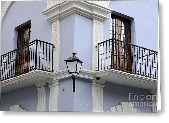 Caribbean Corner Greeting Cards - Colorful Old San Juan Greeting Card by Birgit Tyrrell