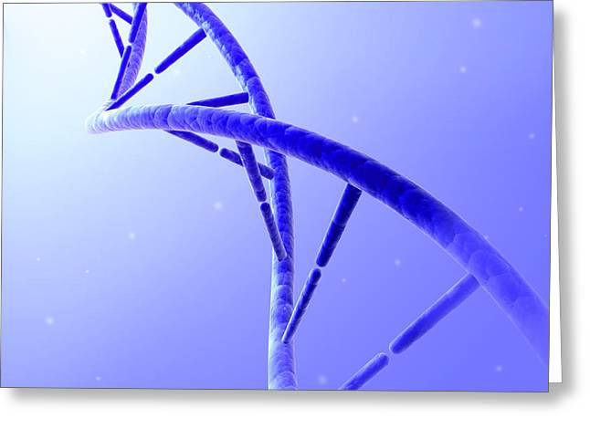 Helix Greeting Cards - Conceptual Image Of Dna Greeting Card by Stocktrek Images