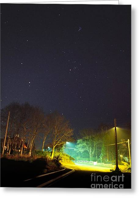 Night Lamp Greeting Cards - Constellations Greeting Card by Laurent Laveder
