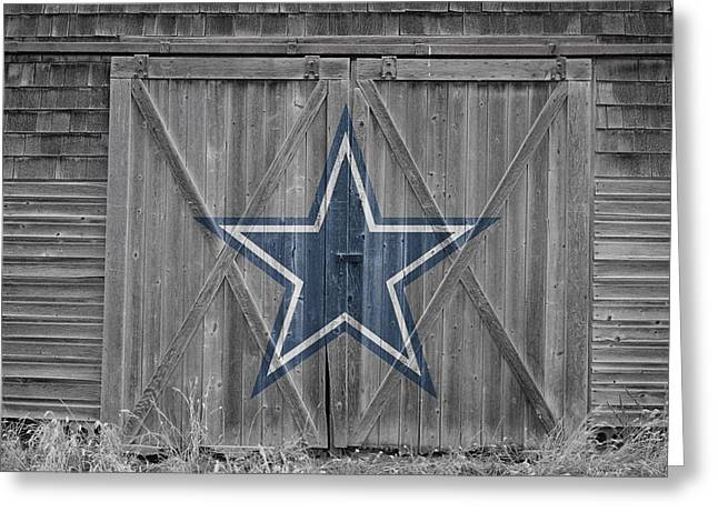 Barn Door Greeting Cards - Dallas Cowboys Greeting Card by Joe Hamilton