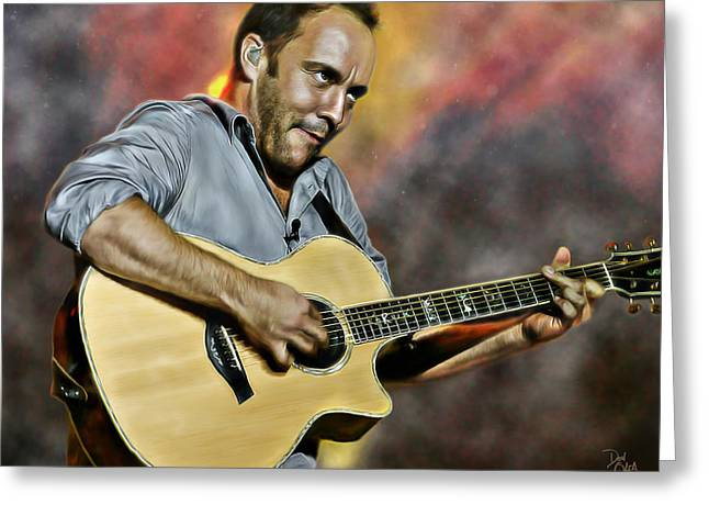 Africa Festival Greeting Cards - Dave Matthews Band Greeting Card by Don Olea
