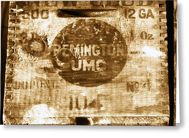 Remington Greeting Cards - Remington Ammo box Greeting Card by David Lee Thompson