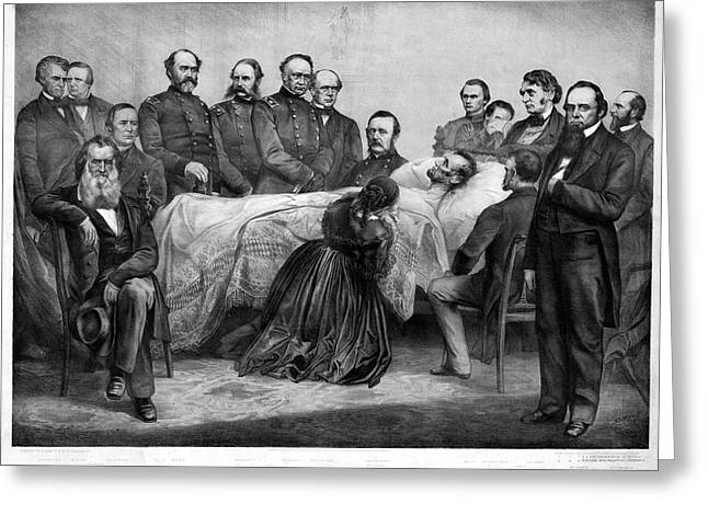 Death Of Lincoln, 1865 Greeting Card by Granger