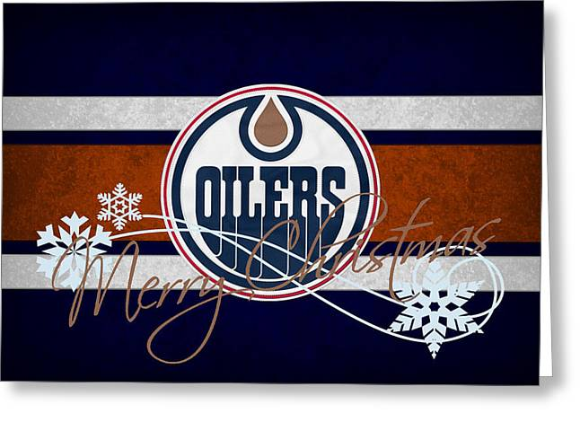 Edmonton Greeting Cards - Edmonton Oilers Greeting Card by Joe Hamilton