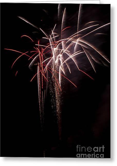 4th July Greeting Cards - Fireworks Greeting Card by Mandy Judson