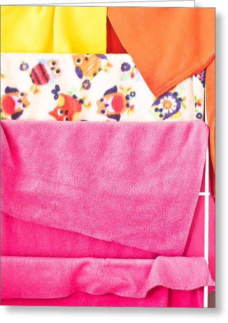 Drying Rack Greeting Cards - Fleece Greeting Card by Tom Gowanlock