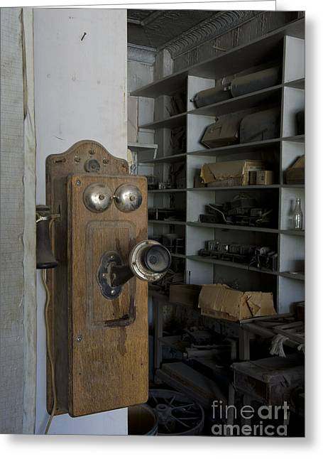 Wooden Building Greeting Cards - Ghost Town Bodie, California Greeting Card by John Shaw
