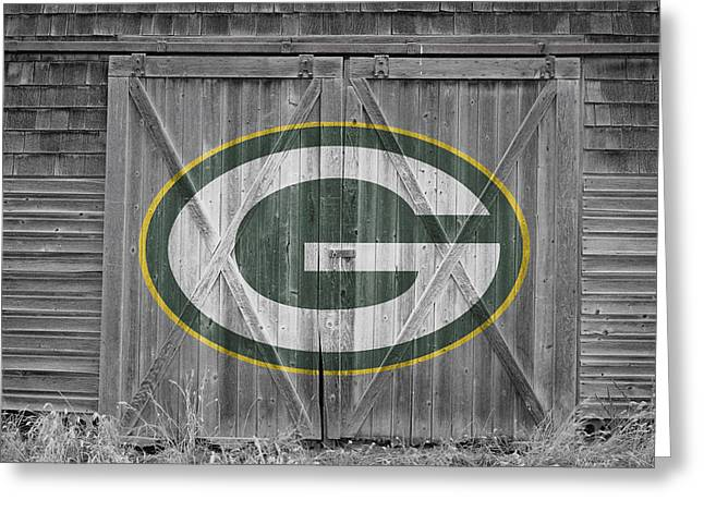 Best Sellers -  - Barn Door Greeting Cards - Green Bay Packers Greeting Card by Joe Hamilton