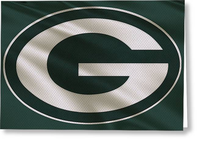 Offense Greeting Cards - Green Bay Packers Uniform Greeting Card by Joe Hamilton