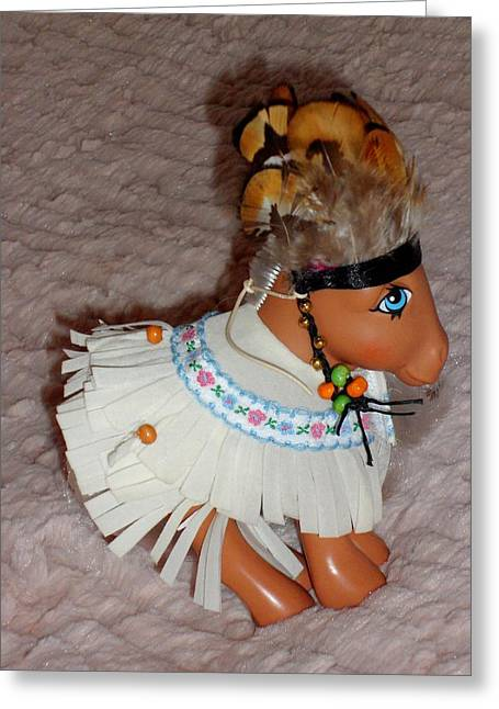 Jenny Mixed Media Greeting Cards - Handmade Complete Outfit For My Little Pony Jenny Greeting Card by Donatella Muggianu