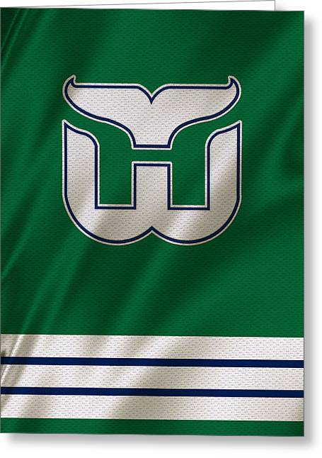 Skates Greeting Cards - Hartford Whalers Greeting Card by Joe Hamilton