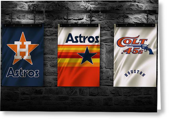 Astros Greeting Cards - Houston Astros Greeting Card by Joe Hamilton