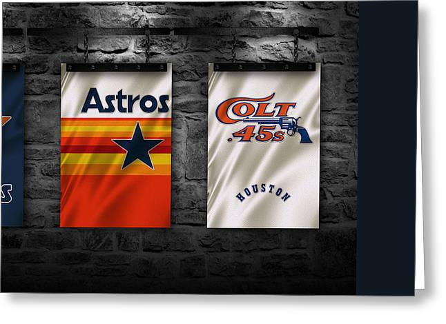 Astro Greeting Cards - Houston Astros Greeting Card by Joe Hamilton