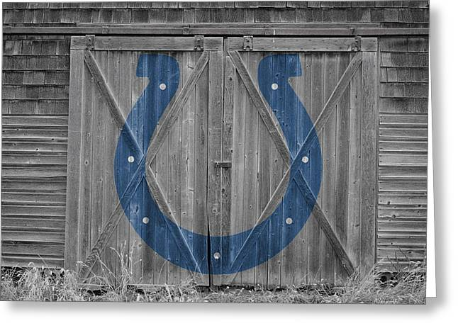 Barn Door Greeting Cards - Indianapolis Colts Greeting Card by Joe Hamilton