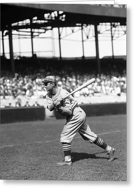 National League Baseball Photographs Greeting Cards - James Jimmie Wilson Greeting Card by Retro Images Archive