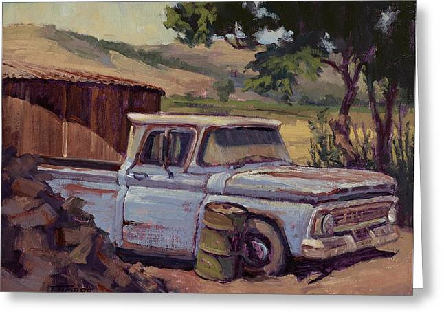Old Trucks Greeting Cards - Waiting for Work Greeting Card by Jane Thorpe