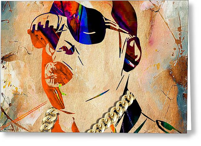 Z Greeting Cards - Jay Z Collection Greeting Card by Marvin Blaine