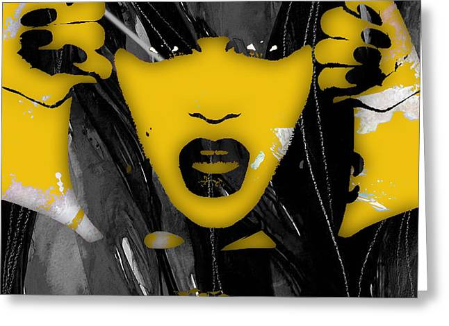Pop Mixed Media Greeting Cards - Jessie J Collection Greeting Card by Marvin Blaine
