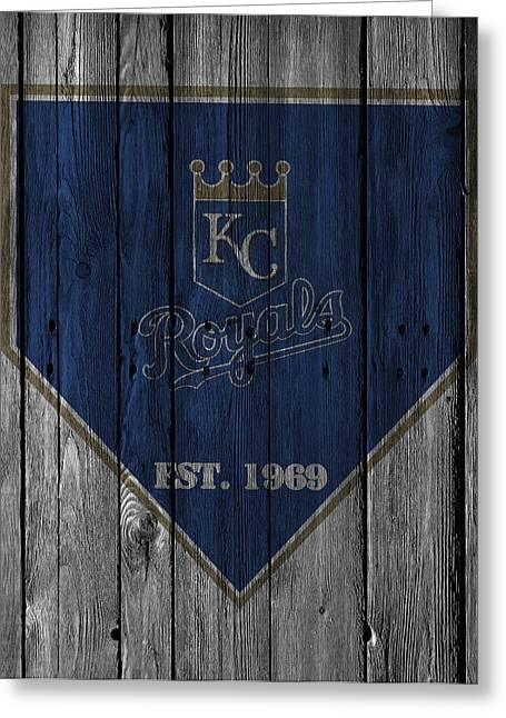 Glove Greeting Cards - Kansas City Royals Greeting Card by Joe Hamilton