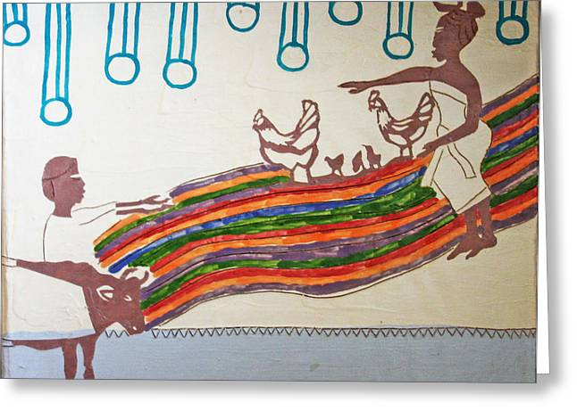 Kintu And Nambi Greeting Card by Gloria Ssali