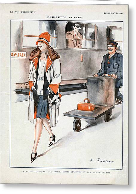 La Vie Parisienne  1927 1920s France Cc Greeting Card by The Advertising Archives