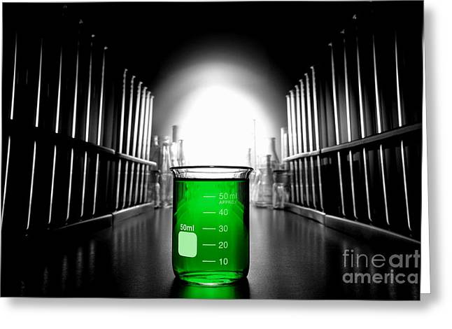 Experiment Greeting Cards - Laboratory Equipment in Science Research Lab Greeting Card by Science Research Lab By Olivier Le Queinec