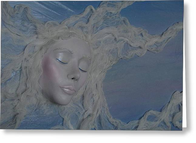 Mixed Media Sculptures Greeting Cards - Live In The Moments For The Moments are All Weve Got Greeting Card by Christine Cholowsky