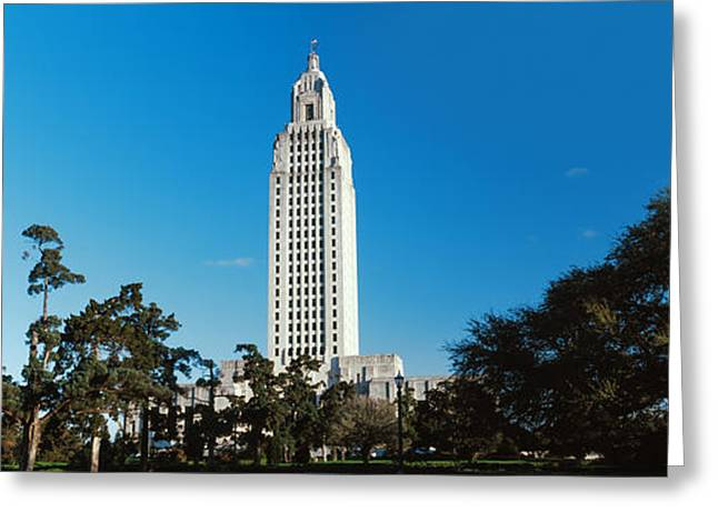 Baton Rouge Greeting Cards - Low Angle View Of A Government Greeting Card by Panoramic Images