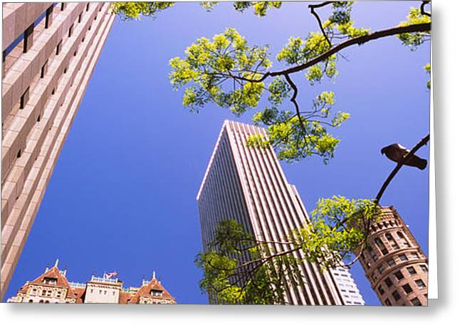 Financial District San Francisco Greeting Cards - Low Angle View Of Buildings In A City Greeting Card by Panoramic Images
