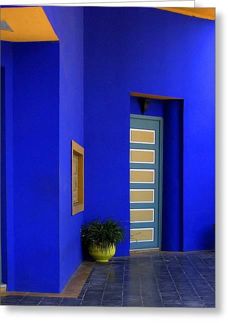 Majorelle Garden Marrakesh Morocco Greeting Card by Ralph A  Ledergerber-Photography