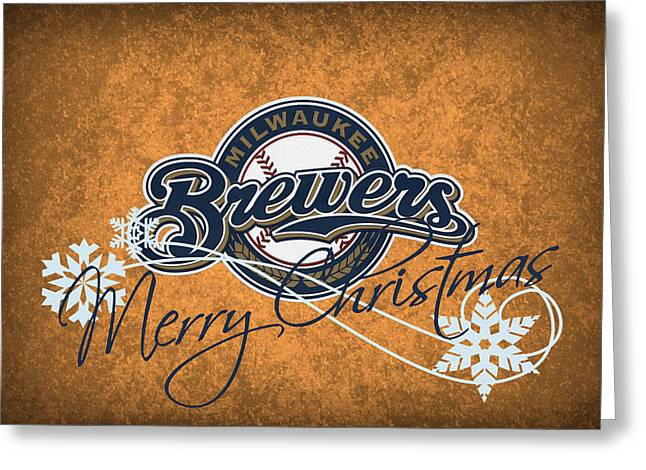 Barn Door Greeting Cards - Milwaukee Brewers Greeting Card by Joe Hamilton