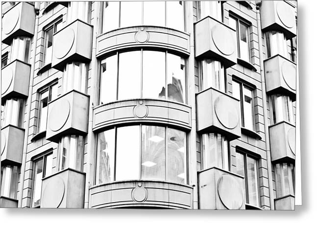 Aluminium Greeting Cards - Modern architecture Greeting Card by Tom Gowanlock