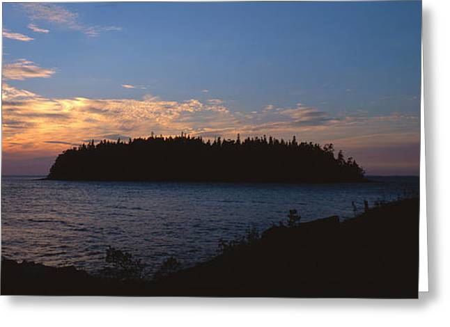 Dusk Greeting Cards - National Park VALAAMSKY Greeting Card by Anonymous