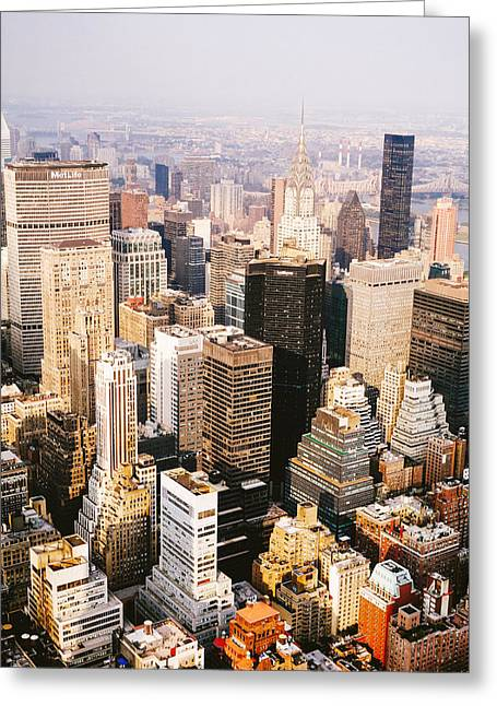 Nyc Photo Greeting Cards - New York City Greeting Card by Vivienne Gucwa