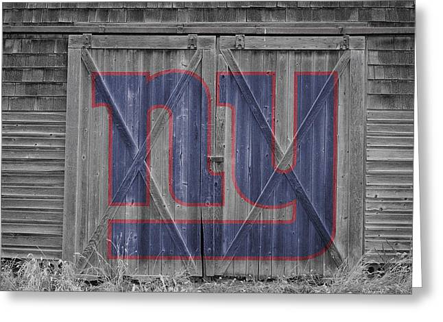 Offense Greeting Cards - New York Giants Greeting Card by Joe Hamilton